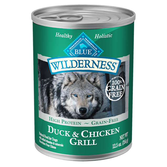Blue Buffalo Blue Wilderness Duck & Chicken Grill Canned Dog Food, 12.5 oz., Case of 12 - Carousel image #1