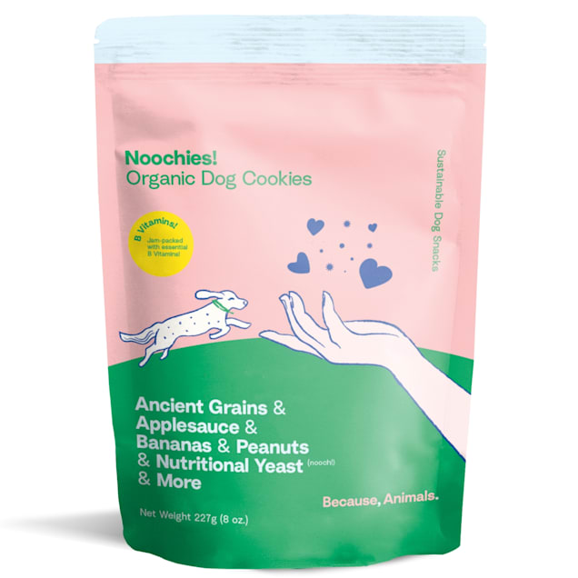 Because Animals Peanut Butter Noochies! Organic Dog Cookies, 8 oz. - Carousel image #1