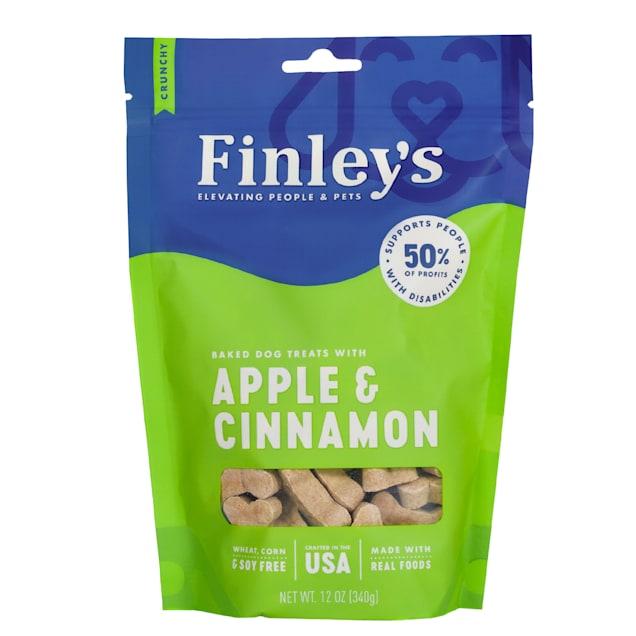 Finley's Apple & Cinnamon Crunchy Biscuit Dog Treats, 12 oz. - Carousel image #1