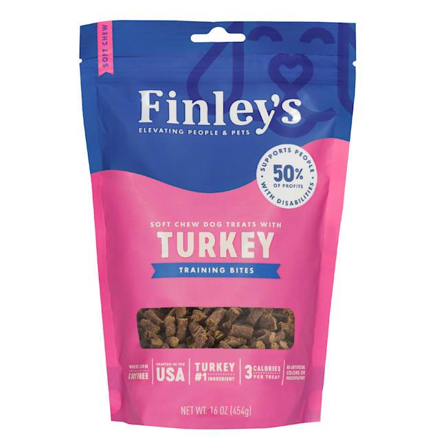 Finley's Turkey Recipe Soft Chew Training Bite Dog Treats, 16 oz. - Carousel image #1