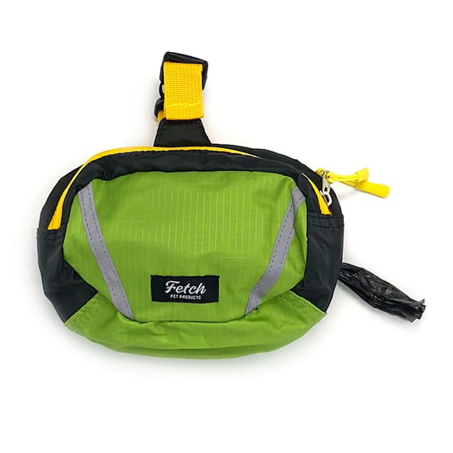 """Fetch Pet Products Green Double Doodie Bag Dog Leash, 8.5"""" L - Carousel image #1"""