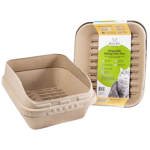 Kitty Sift Disposable Sifting Cat Litter Box & Shield, X-Large - Carousel image #1