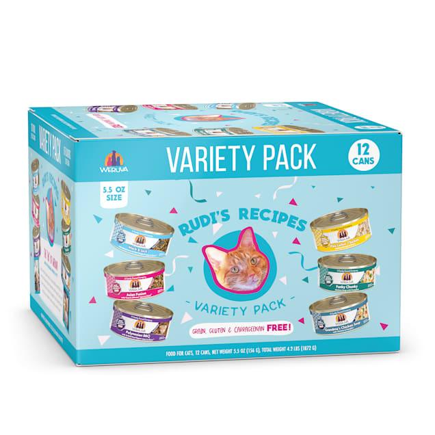 Weruva Classics Rudi's Recipes Variety Pack Wet Cat Food, 5.5 oz., Count of 12 - Carousel image #1