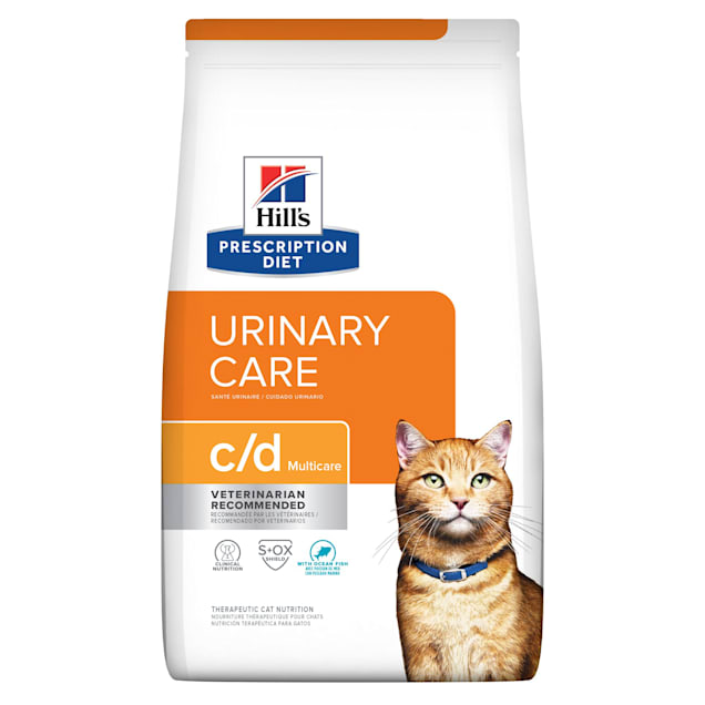 Hill's Prescription Diet c/d Multicare Urinary Care with Ocean Fish Dry Cat Food, 17.6 lbs. - Carousel image #1