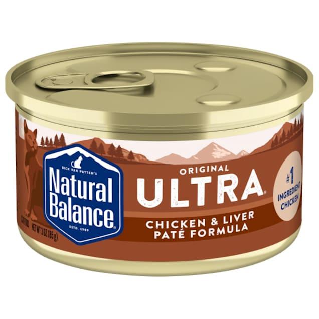 Natural Balance Ultra Premium Chicken & Liver Pate Formula Wet Cat Food, 3 oz., Case of 24 - Carousel image #1