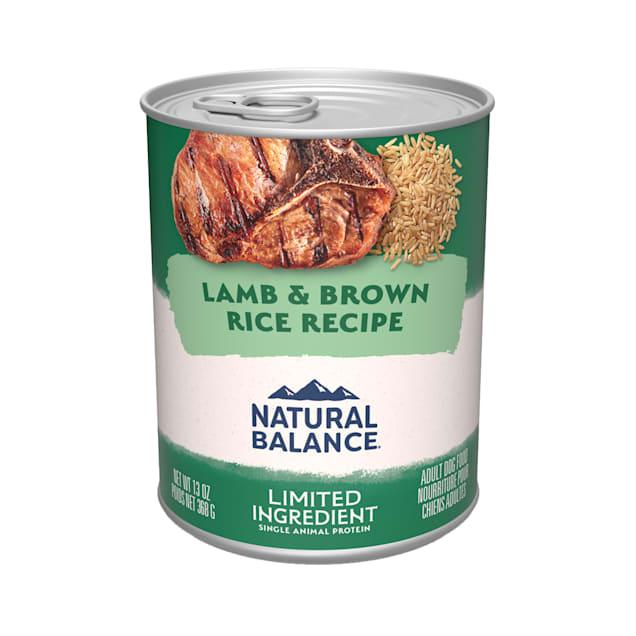 Natural Balance L.I.D. Limited Ingredient Diets Lamb & Brown Rice Formula Wet Dog Food, 13 oz., Case of 12 - Carousel image #1