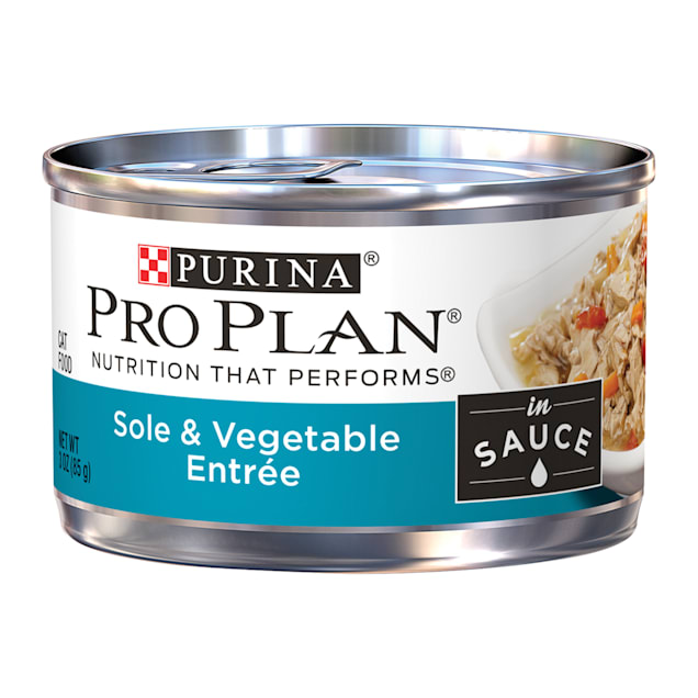 Purina Pro Plan Wet Sole & Vegetable Entree in Sauce Cat Food, 3 oz., Case of 24 - Carousel image #1