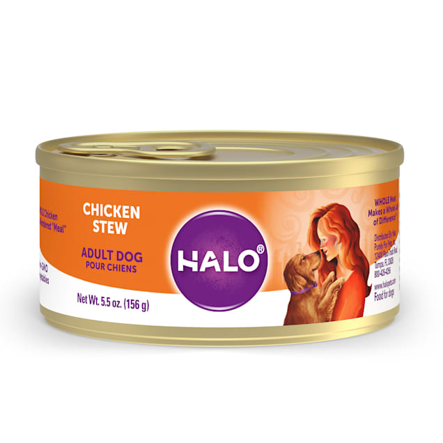 Halo Adult Holistic Chicken Recipe Canned Dog Food, 5.5 oz. - Carousel image #1
