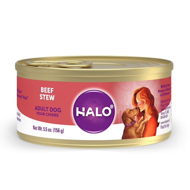 Halo Adult Holistic Beef Recipe Canned Dog Food, 5.5 oz. - Carousel image #1