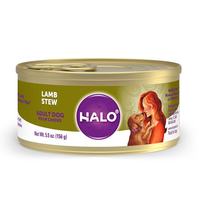 Halo Adult Holistic Lamb Recipe Canned Dog Food, 5.5 oz. - Carousel image #1
