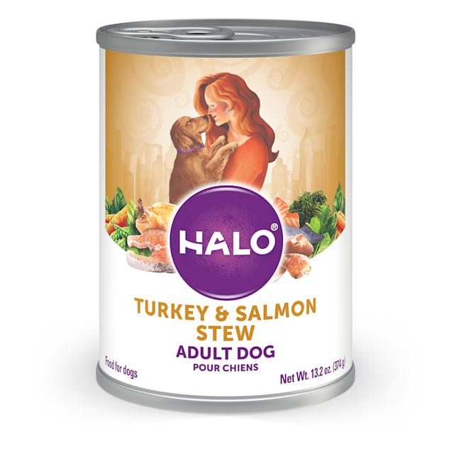Halo Adult Holistic Turkey & Salmon Recipe Canned Dog Food, 13.2 oz. - Carousel image #1