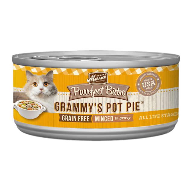 Merrick Purrfect Bistro Grain Free Grammy's Pot Pie Wet Cat Food, 5.5 oz., Case of 24 - Carousel image #1