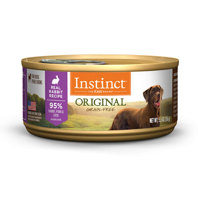 Instinct Original Grain-Free Real Rabbit Recipe Wet Dog Food, 5.5 oz., Case of 12 - Carousel image #1