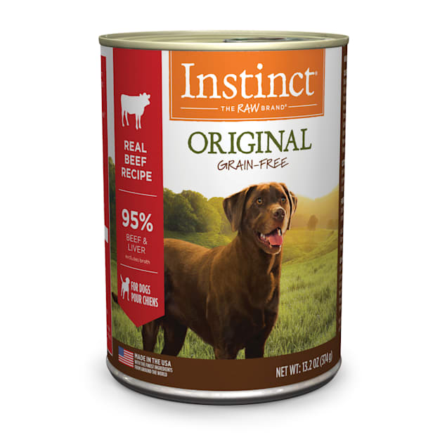 Instinct Grain-Free Beef Canned Wet Dog Food by Nature's Variety, 13.2 oz., Case of 6 - Carousel image #1