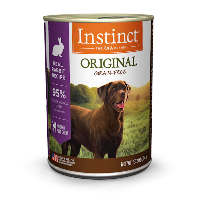 Instinct Grain-Free Rabbit Canned Wet Dog Food by Nature's Variety, 13.2 oz., Case of 6 - Carousel image #1