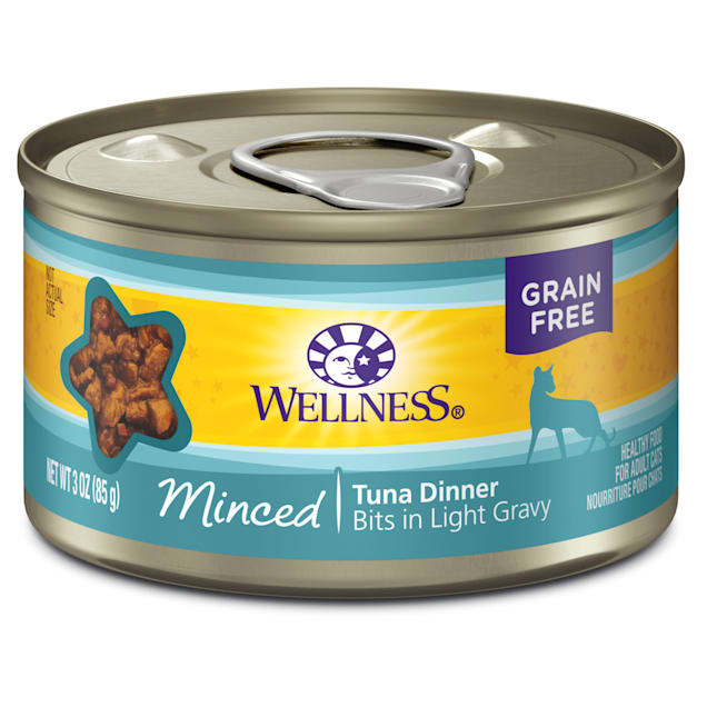 Wellness Complete Health Natural Canned Grain Free Morsels Chicken Entree Wet Cat Food, 5.5 oz., Case of 24, Can - Carousel image #1