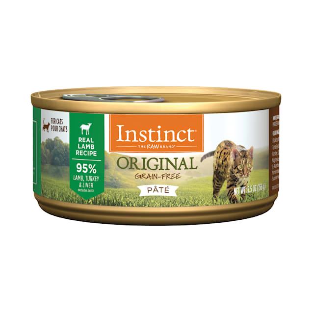 Instinct Original Grain-Free Pate Real Lamb Recipe Wet Cat Food, 5.5 oz., Case of 12 - Carousel image #1
