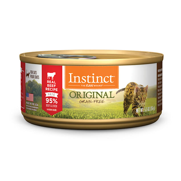 Instinct Grain-Free Beef Canned Cat Food by Nature's Variety, 5.5 oz., Case of 12 - Carousel image #1