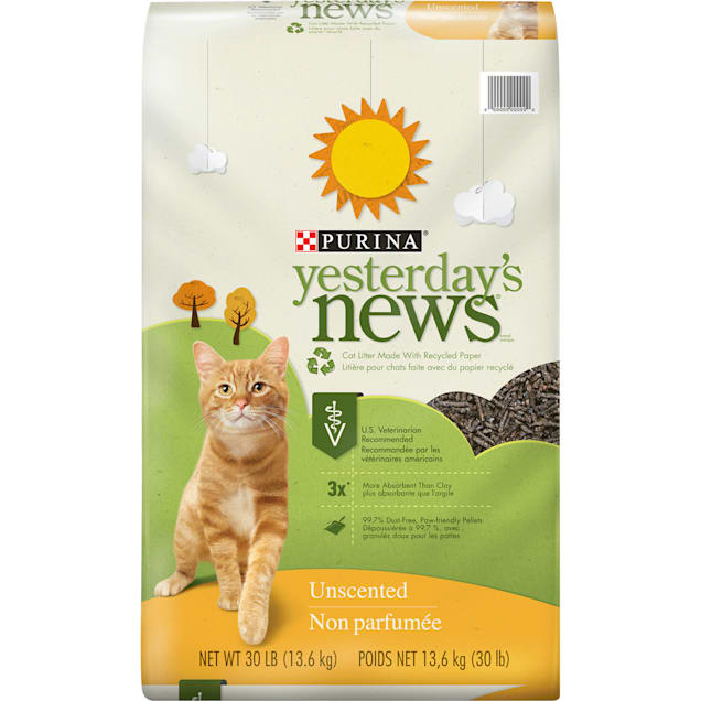 Purina Yesterday's News Paper Unscented Low Tracking Cat Litter, 30 lbs. - Carousel image #1