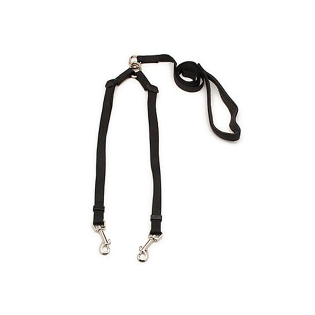 "Aspen Pet by Petmate Take Two 5/8"" Adjustable Leash in Black - Carousel image #1"