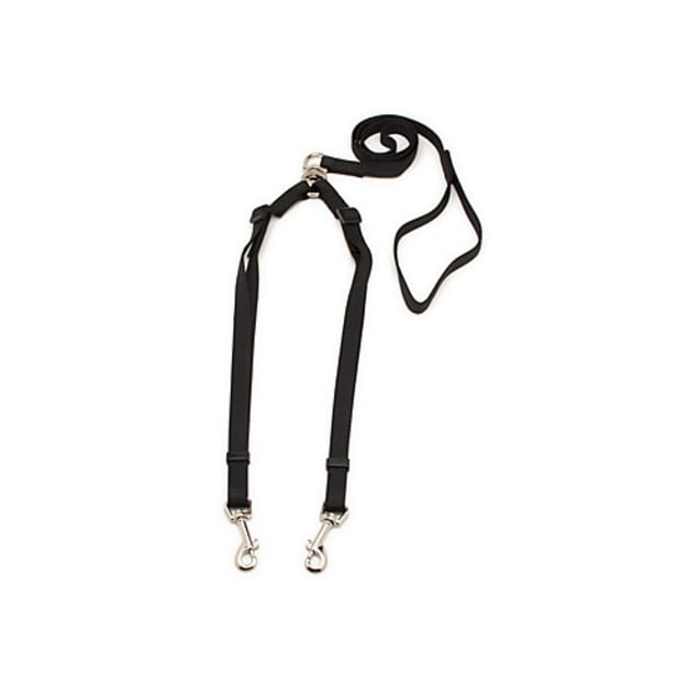 "Aspen Pet by Petmate Take Two 5/8"" Adjustable Leash with Cushion Grip in Black - Carousel image #1"