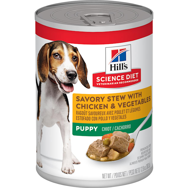 Hill's Science Diet Puppy Savory Stew with Chicken & Vegetables Canned Food, 12.8 oz., Case of 12 - Carousel image #1