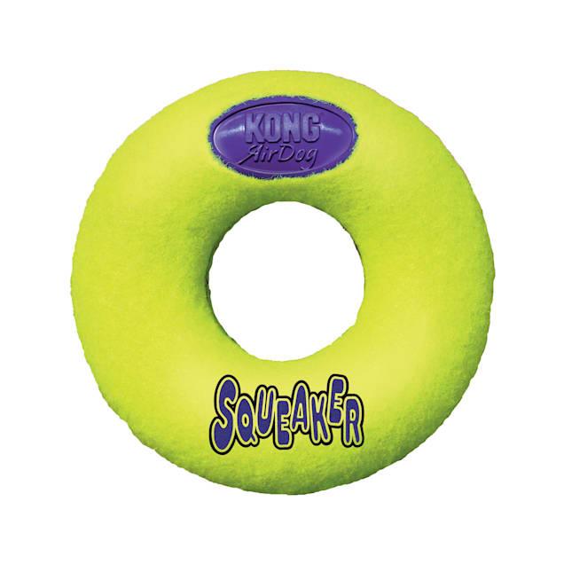 KONG Squeaker Donut Dog Toy, Medium - Carousel image #1