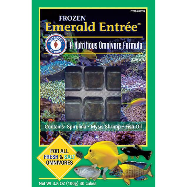 San Francisco Bay Brand Frozen Emerald Entree Formula Cubes Fish Food, 3.5 oz. - Carousel image #1