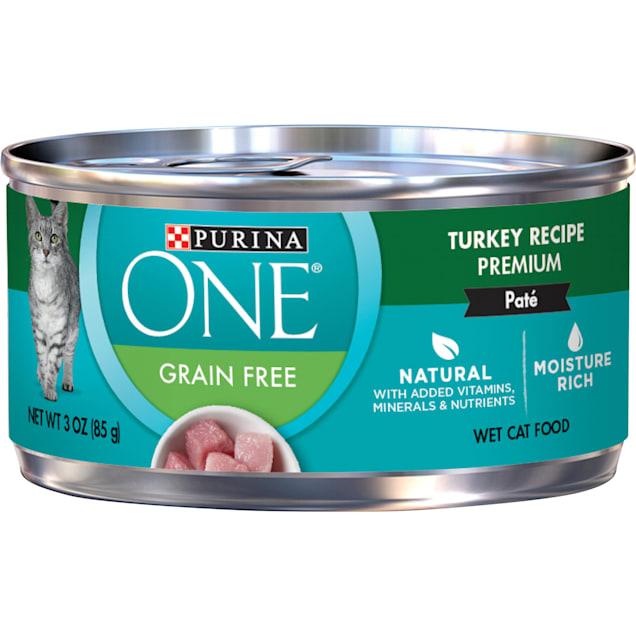 Purina ONE Smart Blend Grain Free Classic Turkey Premium Pate Wet Cat Food, 3 oz., Case of 24 - Carousel image #1