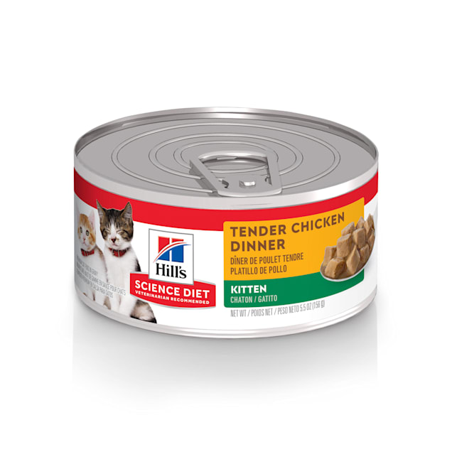 Hill's Science Diet Kitten Tender Chicken Dinner Canned Cat Food, 5.5 oz., Case of 24 - Carousel image #1