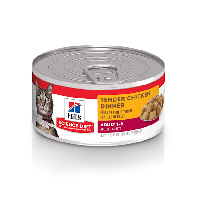 Hill's Science Diet Adult Tender Chicken Dinner Canned Cat Food, 5.5 oz., Case of 24 - Carousel image #1