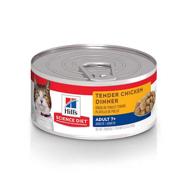 Hill's Science Diet Adult 7+ Tender Chicken Dinner Canned Cat Food, 5.5 oz., Case of 24 - Carousel image #1