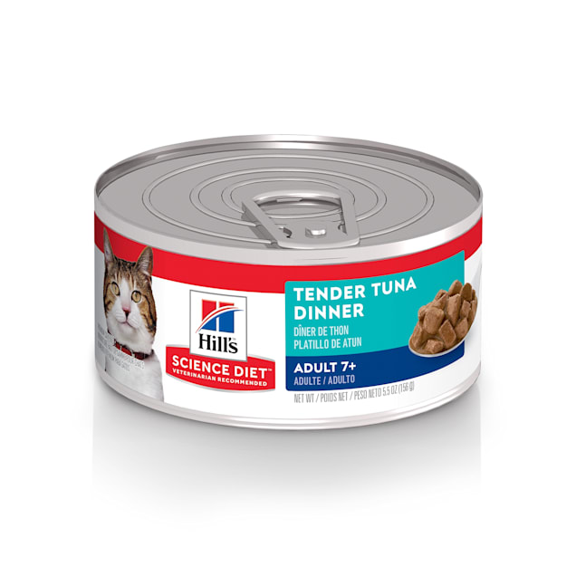 Hill's Science Diet Adult 7+ Tender Tuna Dinner Canned Cat Food, 5.5 oz., Case of 24 - Carousel image #1