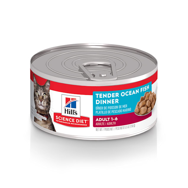 Hill's Science Diet Adult Tender Ocean Fish Dinner Canned Cat Food, 5.5 oz., Case of 24 - Carousel image #1
