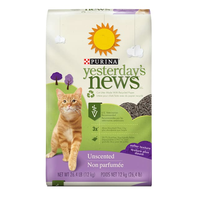 Purina Yesterday's News Paper Unscented Softer Texture Low Tracking Cat Litter, 26.4 lbs. - Carousel image #1