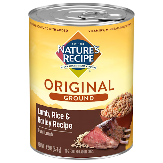 Nature's Recipe Easy to Digest Lamb, Rice & Barley Formula Canned Dog Food, 13.2 oz., Case of 12 - Carousel image #1