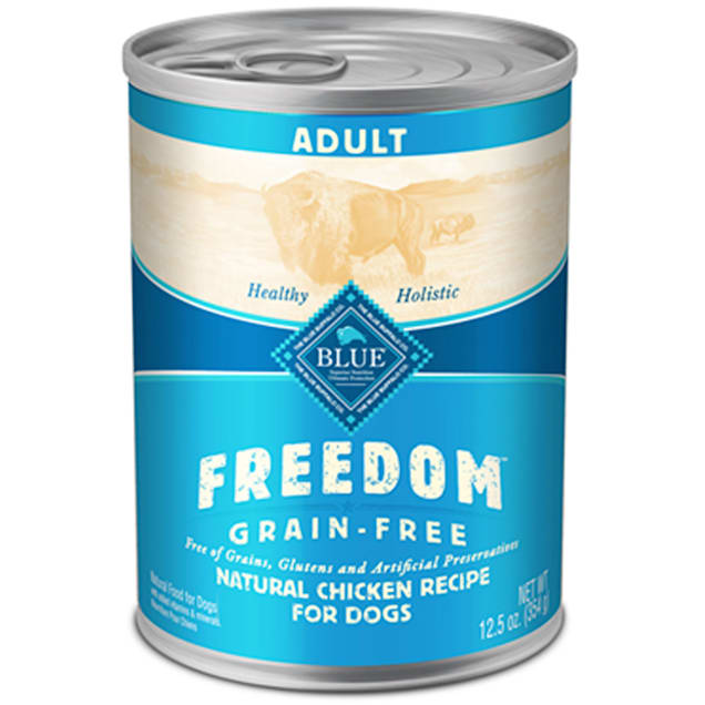 Blue Buffalo Blue Freedom Grain-Free Chicken Recipe Wet Dog Food, 12.5 oz., Case of 12 - Carousel image #1