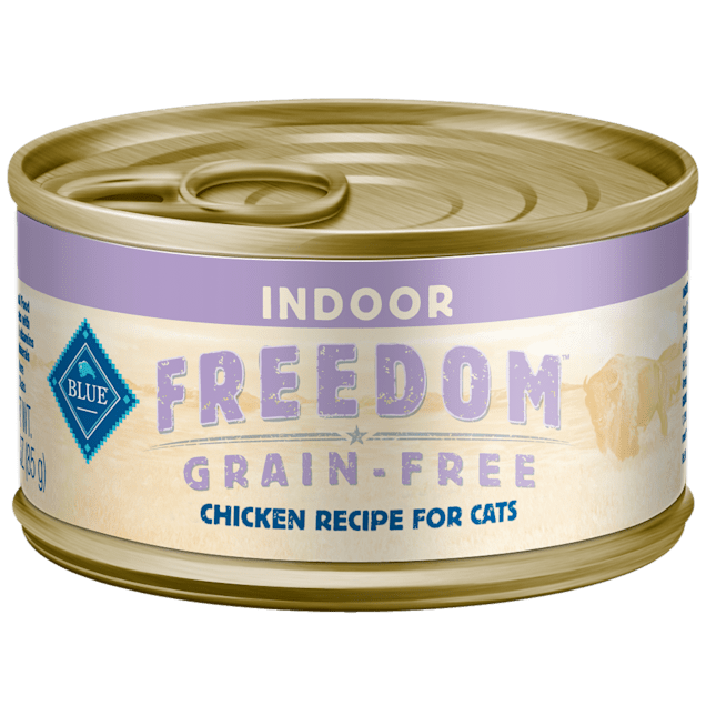Blue Buffalo Blue Freedom Grain Free Indoor Chicken Recipe Adult Canned Cat Food, 3 oz. - Carousel image #1