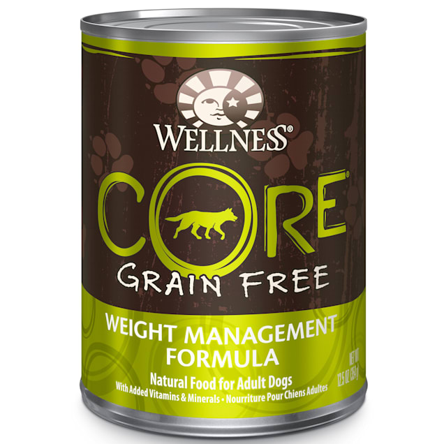 Wellness CORE Natural Grain Free Weight Management Recipe Wet Dog Food, 12.5 oz., Case of 12 - Carousel image #1