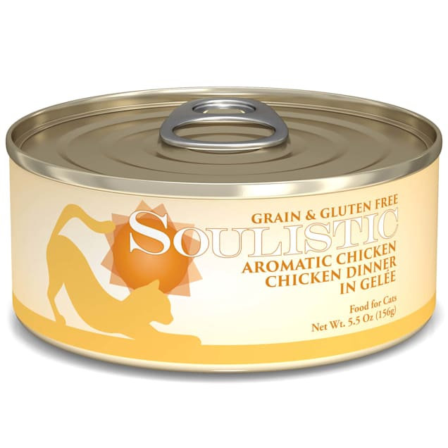 Soulistic Aromatic Chicken Chicken Dinner in Gelee Wet Cat Food, 5.5 oz., Case of 8 - Carousel image #1