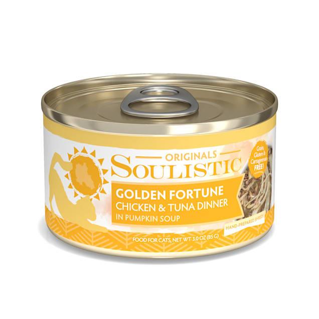 Soulistic Originals Golden Fortune Chicken & Tuna Dinner in Pumpkin Soup Wet Cat Food, 3 oz., Case of 12 - Carousel image #1