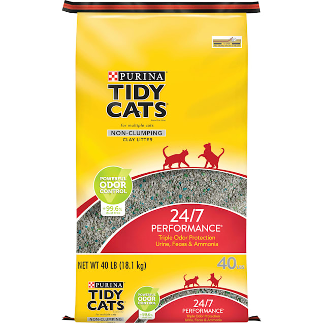 Purina Tidy Cats Non Clumping 24/7 Performance Multi Cat Litter, 40 lbs. - Carousel image #1