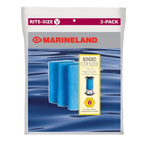 Marineland Rite-Size Bonded Filter Sleeve for Magnum Models 220 and 350, Pack of 3 - Carousel image #1