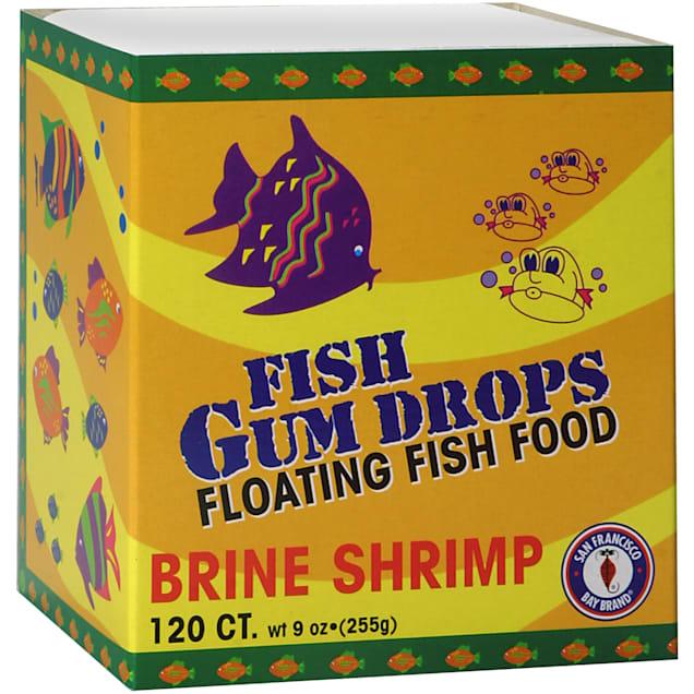 San Francisco Bay Brand Frozen Gumdrops Floating Fish Food Brine Shrimp, 120 Ct - Carousel image #1