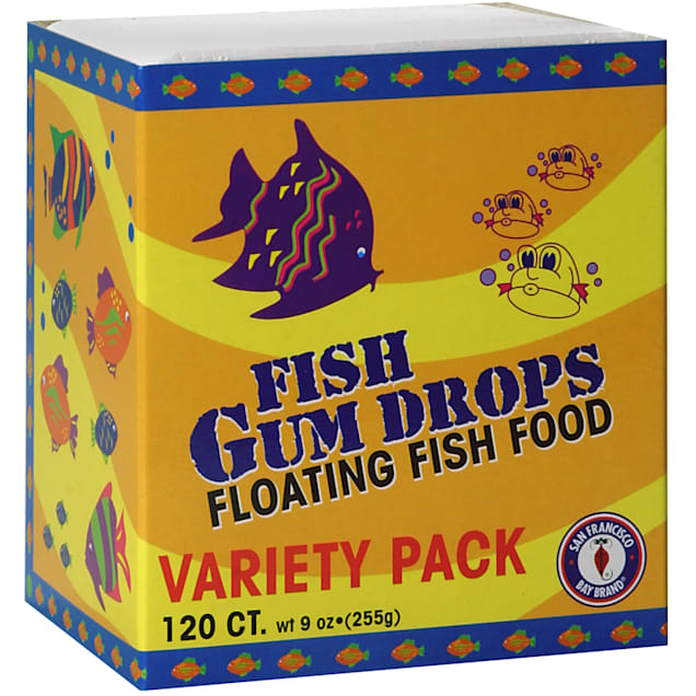 San Francisco Bay Brand Frozen Gumdrops Floating Fish Food Variety Pack, 120 Ct - Carousel image #1