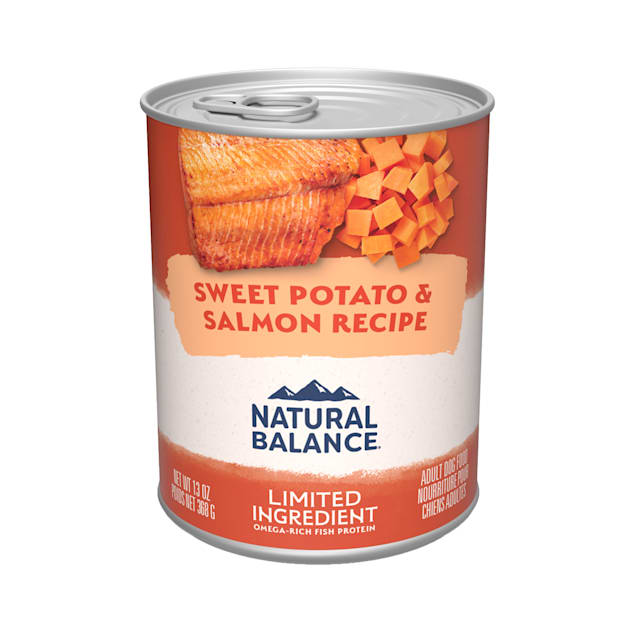 Natural Balance L.I.D. Limited Ingredient Diets Sweet Potatoes & Fish Wet Dog Food, 13 oz., Case of 12 - Carousel image #1