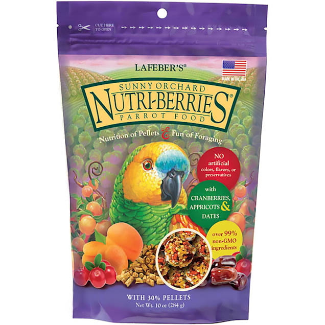 Lafeber's Sunny Orchard Parrot Nutri-Berries Parrot Food, 10 oz. - Carousel image #1
