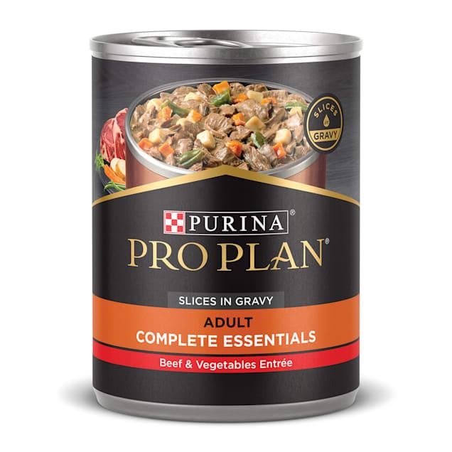 Purina Pro Plan SAVOR Beef & Vegetables Entree Slices in Gravy Adult Wet Dog Food, 13 oz., Case of 12 - Carousel image #1