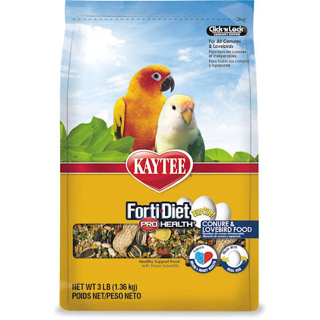 Kaytee Forti-Diet Pro Health Egg-Cite! Healthy Support Diet for Conures & Lovebirds, 3 lbs. - Carousel image #1