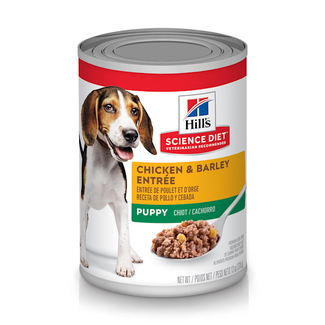 Hill's Science Diet Puppy Chicken & Barley Entree Canned Dog Food, 13 oz., Case of 12 - Carousel image #1